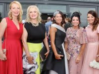 Jean Leahy, Mary Cooper Turner, Siobhan Kennedy, Mary Woulfe, Catriona O'Connor at the Don O'Neill Gala Dinner for Recovery Haven at Ballyroe Heights Hotel on Friday night. Photo by Dermot Crean