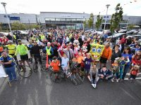 The crowd welcoming the Tour de Munster to Manor West last year.