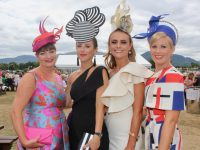 Sheila O'Sullivan, Jordana Lambadarios, Tasha O'Connor and Stacy O'Leary at the Dawn Milk Ladies Day at Killarney Races on Thursday. Photo by Dermot Crean
