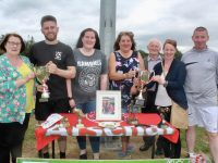 Janet Boyle, Robert McGovern, Rebecca McGovern, Sheridan McGovern, Oliver McGovern, Sharon Healy and Sean McGovern at the Alan McGovern Memorial UHK Soccer Tournament at Tralee Dynamos pitch on Saturday. Photo by Dermot Crean