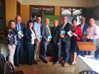 At the launch of the North Kerry Way Guidebook was John Griffin (Tourism Officer, KCC), Helen Fitzgibbon (North Kerry Way Committee), Cllr Jimmy Moloney, Cllr John Lucid, Abbey Murphy (neé Cummings) (KCC), Ogie Moran (North Kerry Way Committee), Cllr Mike Kennelly, Joan McCarthy (Head of Tourism, KCC), Andy Smith (KCC).