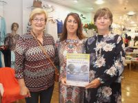 Maureen O'Brien of Recovery Haven with Eileen Whelan of Paco Tralee and Mary Lynch of the Jamie Wrenn/Mike Dean Memorial Walk at Paco on Friday morning. Photo by Dermot Crean