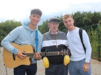 Musician Seamus Harty, Michael Barrett and Eoin Sheehy  at the Rehabcare Blennerville Family Day on Wednesday. Photo by Dermot Crean