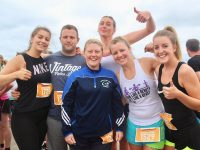 Ciara Hurley, Colin McCarthy, Holly O'Byrne, Samantha Murphy, Cilla Beer and Katie O'Keeffe at the start of 'Sandstorm' on Ballyheigue beach on Saturday. Photo by Dermot Crean
