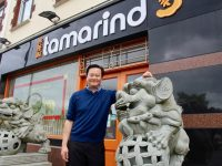 Andrew Ong outside his Tamarind Restaurant on Matt Talbot Road.