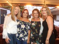 Cora Walsh, Therese Carroll, Lisa McCarthy and Aileen Mahony at the University Hospital Kerry Sports and Social Club's annual barbecue at Benner's Hotel on Friday night. Photo by Dermot Crean