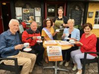 Rose of Tralee 2018, Kirsten Mate Maher, with members of the Kerry Hospice Foundation launching this year's annual coffee morning. Photo by Dermot Crean