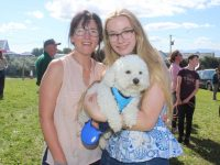 Brid and Aoife King with 'Alfie' at the Churchill Forge Open Day on Saturday. Photo by Dermot Crean