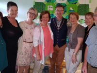Members of the Recovery Haven Kerry team were thrilled to welcome Daniel O'Donnell to the centre on Saturday morning. L-R Noreen OFlaherty, Marisa Reidy, Siobhan MacSweeney, Marian Barnes, Eileen McKenna, Liz Mannix and Joe  Moynihan.