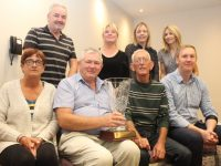 Joe Moynihan received a presentation from Tralee Tidy Towns at their meeting on Friday in The Rose Hotel. Front from left; Anne Connolly, Joe Moynihan, Cllr Sam Locke and Ciaran Reilly. Back from left; Frank Hartnett, Gillian Wharton, Jean Foley and Martha Finn. Photo by Dermot Crean