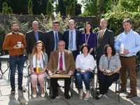 Back row; Thomas Foley, Pyro desserts; Conor Hyde, Bullseye Food Consultancy; Jim Garvey, SuperValu; Michael Killoury, Musgraves; Mary Kate Mageean, SuperValu; Victor Sheahan, Kerry Local Enterprise Office; Ollie Diggin, Ardfert Dairy Front row – Nicola Lynch, The Little Juice Factory; Paul Walker, Blair Farm Charcuterie; Eibhlis Diggin, Ardfert Dairy; Orla Walsh, chocolate biscuit cake & quiche.