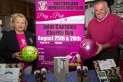 Castleisland Members' Golf Club captains, Maryann Downes and Denis O'Sullivan at the announcement of details of the club's Play in Pink Charity Classic for Breast Cancer Research due at the Castleisland course on August 25th and 26th. Photograph: John Reidy