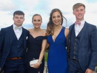 Ciarán Killeen, Ellie Stuart, Eimear Brosnan and Eoin Buckley at the Presentation Tralee Students' Debs Ball at Ballyroe Heights Hotel on Tuesday. Photo by Dermot Crean