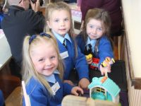 New arrivals at Presentation Primary having fun on their first day at school. Photo by Dermot Crean