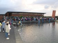 The large crowd at the Celebration of Light at the Tralee Bay Wetlands on Wednesday evening. Photo by Dermot Crean