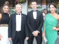 Myra and Damian Greer, Aidan and Denise O'Mahony at the Rose Ball on Friday night. Photo by Dermot Crean