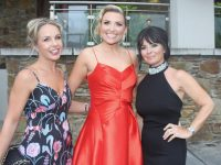 Marian Murphy Cooney, Niamh Kelly and Jean Maguire at the Rose Ball on Friday night. Photo by Dermot Crean