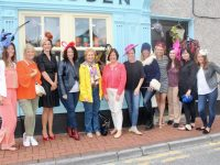 Some of the 1998 Rose of Tralee contestants gathered outside Maddens on Milk Market Lane, with Alison Kelliher (second left) and Aine Kelliher (fifth from left). The former Roses are, from left; Emilia Cirkur (Washington DC), Frances Carley (Dublin), Orla Cusack (Waterford), Liz Gavin (Belgium), Caroline Wilson (Texas), Katie McMahon (New York), Joanna Halloran (South Wales), Siobhan McMahon (Leeds), Rebekah Wall (Kerry) and Emma Hyland (Midlands UK). Photo by Dermot Crean