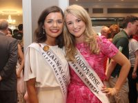 The Galway Rose Deirdre O'Sullivan with London Rose Gráinne Hawkes  at The Rose Hotel on Wednesday evening. Photo by Dermot Crean