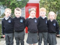 Some of the new arrivals at Scoil Nuachabháil. Photo by Dermot Crean
