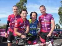 Francis Crowe, Mary McCarthy, Mena Cahill and Aidan Cronin at Manor West on Friday afternoon. Photo by Dermot Crean