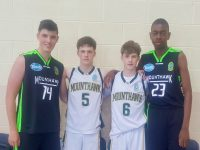 Mercy Mounthawk basketballers Daire Kennelly, Sean and Tim Pollmann-Daamen and Leeroy Odiahi who are off to Irish squad training camps this weekend.