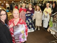 Launching the ADAPT Fashion Show 2018 at the shop on Matt Talbot Road were, in front; Louise O'Connor, Helena Slattery. Back; Bridget O'Sullivan, Mary O'Sullivan, Helen Corrigan, Noelle Moylan and Ljilja Samardzic. Photo by Dermot Crean