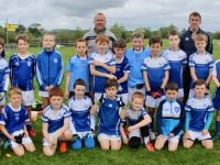The Kerins O'Rahilys Under 10 team with coaches David Flaherty, Richie Roche, John O'Connor and Richie Donnelly at the John Mitchels blitz on Saturday morning. Photo by Dermot Crean