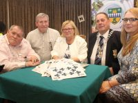 President of North Munster Region Nicky Fitzgibbon, organiser Tom Hardiman, President of  North Kerry Bridge Congress, Anne Prendiville, President of CBAI Peter O'Meara and Trish Stack  at the opening of the North Kerry Bridge Congress 2018 at The Rose Hotel on Friday evening. Photo by Dermot Crean