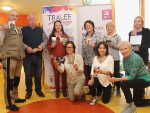 Members of Tralee Art Group at Baile Mhuire for Culture Night on Friday. Photo by Dermot Crean