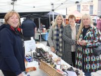 Melane Harty showing her wares to Heather Lowham, Betty Fitzgerald and Anne Lowham at the Tralee Food Festival in the Mall on Saturday. Photo by Dermot Crean