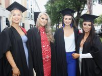 Megan Arnopp, Cora Dowling and Laura Sheahan and Zoe O'Carroll, all completed Beauty Therapy course, at the Kerry College of Further Education Graduation Ceremony on Friday at the Brandon Hotel. Photo by Dermot Crean