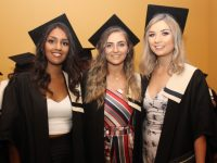 Jasmine Shah (Special Needs Assistant), Amy Sweeney and Fiona Tangney (Childcare with Montessori) at the Kerry College of Further Education Graduation Ceremony on Friday at the Brandon Hotel. Photo by Dermot Crean