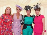 Sheila O'Connell, Sharon Quilter, Joanne O'Flaherty and Maria Sheehy at McElligott's Honda Ladies Day at Listowel Races on Friday. Photo by Dermot Crean