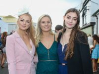 Mairead McNamara, Jessica Harris and Tamara Goggin at McElligott's Honda Ladies Day at Listowel Races on Friday. Photo by Dermot Crean