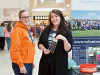 "Pictured from left; Leanne McCarthy, Tralee with Siobhan Johnston from Volunteer Kerry at the Manor West Shopping Centre and Retail Park's ""Wellness on Your Doorstep"" exhibition on Saturday, Sept 22nd which provided information to the local community about organisations, clubs and services which are right on Tralee's doorstep. Local organisations spoke to the public on topics such as wellness, health, fitness and education, as well as ways to get involved and give something back to their local community. Pic: Pauline Dennigan"