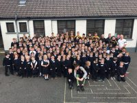 The Minors visit Abbeydorney School