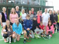 Some of the members of Tralee Tennis Club who took part in the Charity Tennis Marathon on Saturday. Photo by Dermot Crean