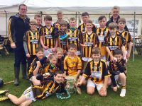 U12 team that took part in Munster Tournament in Adare, with the Liam McCarthy Cup
