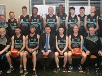 The Garvey's Tralee Warriors squad with coaches and Jim Garvey of Garvey Group. Photo by Dermot Crean