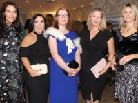 Denise Healy, Teresa Higgins Walker, Derval Spring, Grainne Stack and Martha Farrell at the Ballymacelligott Ladies Lunch in the Rose Hotel on Sunday. Photo by Dermot Crean