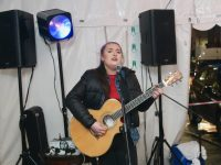 Rachel Hoctor performing under the marquee on The Mall on Friday evening. Photo by Dermot Crean