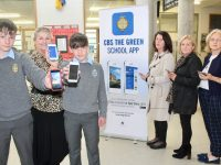 Launching the new CBS The Green App were pupils Kealan Downey and Donnacha Sayers with Principal Anne O'Callaghan and members of the Parents Council, Anne O'Connell, Catherine Kerins and Grainne Hayes. Photo by Dermot Crean