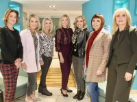Sandra Rusk (centre) of Weardrobe with her models Noreen McElligott, Paula Foley, Linda Lowth, Helen Leahy, Tish O'Flaherty and Martina Power at the CH/Weardrobe Fashion and Beauty Show at CH Tralee on Friday evening. Photo by Dermot Crean