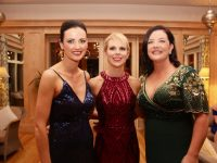 Miriam Ferriter, Dingle Skellig Hotel, Aisling Flahive and Caroline Clancy of the Dingle Benner's Hotel at the Connect Kerry Hospitality Awards at Ballygarry House Hotel on Tuesday night. Photo by Dermot Crean
