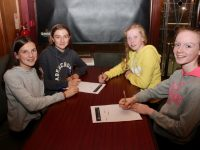 Evelyn Fox, Niamh Ryan, Grace Reidy and Hannah Willoughby at the table quiz in O'Donnell's Mounthawk on Thursday night. Photo by Dermot Crean