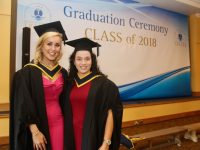 Health and Leisure students Elena Bradley and Stephanie Dixon at the IT Tralee Graduation Ceremony at the Brandon Conference Centre on Friday. Photo by Dermot Crean