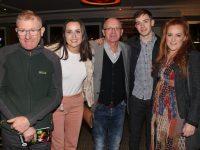 Michael Nicholson, Mary Hazelwood, Martin Conway, Jordan Conway, Aisling Nicholson at John Mitchels GAA Lip Syng Battle at Ballygarry House Hotel on Saturday night. Photo by Lisa O'Mahony.