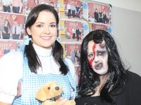 Teacher Ellen Moloney with Cheyenne O'Reilly, winner of the Halloween Fancy Dress contest at Kerry College of Further Education on Friday. Photo by Dermot Crean