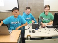 Young coders at the MegaDojo event at IT Tralee on Saturday. Photo by Dermot Crean